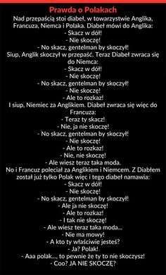Prawda o Polakach Funny Text Memes, Funny Memes Images, Wtf Funny, Funny Photos, Hilarious, Weekend Humor, Funny Mems, Got Memes, Funny Comics