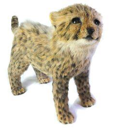 needle felted cheetah cub by Terumi Ohta