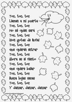 Os dejo una selección de poemas de otoño para disfrutar de esta hermosa estación : ... Kindergarten Songs, Preschool Poems, Rhyming Activities, English Activities, Activities For Kids, Fall Crafts For Kids, Teaching Spanish, Spanish Teacher, Nursery Rhymes