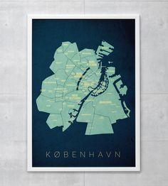 - KLAM typemap poster  - Delivery 5-6 days  - 50x70cm (200gr semigloss paper)  - facebook.com/enklamide  - enklamide.dk