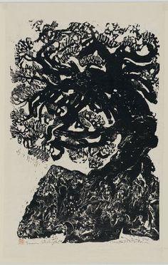 Matsubara Naoko: Inner strength - Museum of Fine Arts Art And Illustration, Linocut Prints, Art Prints, Francoise Gilot, Kunsthistorisches Museum, Japanese Art Modern, Engraving Art, Museum Of Fine Arts, Art Museum
