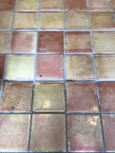 30 Year old saltillo tile floor brought back to life with our \