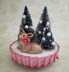 This lady's shop on etsy is all  handmade upcycled retro christmas decorations, adorable!