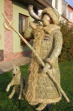 Slámové postavy | Výrobky z přírodních materiálů Teddy Bear, Animals, Animales, Animaux, Teddy Bears, Animal Memes, Animal, Animais, Dieren