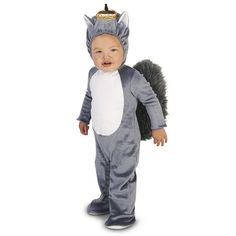Baby Grey Squirrel Costume, Infant Unisex, Size: 12-18MONTH, Multicolor
