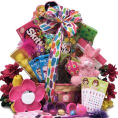 An easter basket for a girl 6 10 years old zzrepins pinterest a big easter baskets with lots of candy google search easter gift baskets9 year oldschocolate giftsfood negle Images