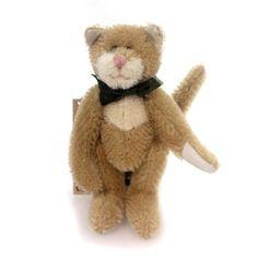 Boyds Bears Plush Lindbergh Cattington Cat Kitten Mohair Jointed 59008703