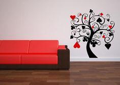 Poker Tree wall decal art stickers decor