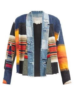 Kimono Jacket, Sweater Jacket, Women's Straight Jeans, Color Blocking Outfits, Mens Designer Shirts, Sewing Coat, Hooded Sweater, Vintage Denim, Distressed Denim