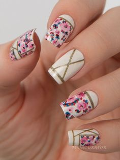 Beautiful Floral nails for Spring