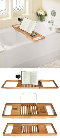 Expandable & adjustable bath caddy fits on any tub! #product_design
