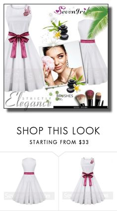 """""""//Sevengrils 52.//"""" by sajra-de ❤ liked on Polyvore featuring KAROLINA and Bobbi Brown Cosmetics"""