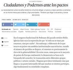 Ciudadanos y Podemos ante los pactos / @kanciller + @politikon_es + @el_pais | #readytoworktogether #socialpolitics