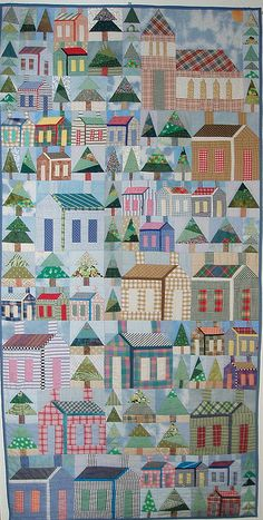 Beautiful house quilt!