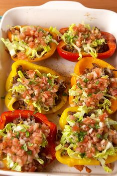 Taco Stuffed PeppersDelish