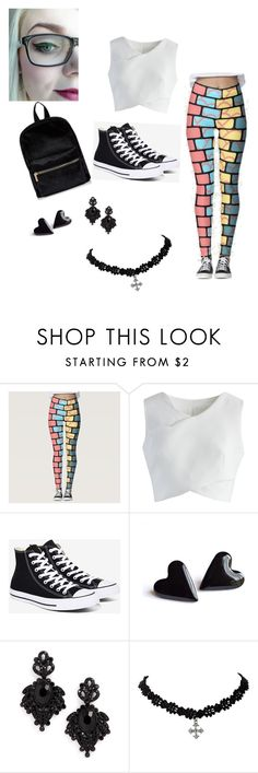 KAYAS FIRST OUTFIT by scarletnight13 on Polyvore featuring Chicwish, Converse and Tasha