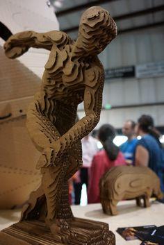 Printing In Cardboard Cardboard Sculpture, Cardboard Paper, Sculpture Art, Paper Craft, Cardboard Relief, Maker Culture, Cardboard Furniture, Paper Artwork, A Level Art