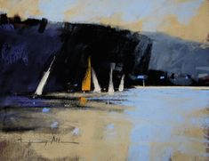 The Beach. Pastel on sanded paper. 10 x 8 in. Tony Allain $220NZD