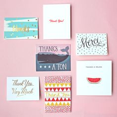 Say Thank You with style! Lovely thank you cards by Paperchase.