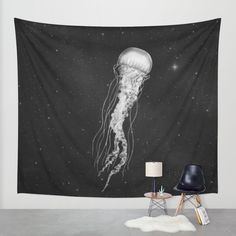 Space Jelly Wall Tapestry by Terry Fan   Society6