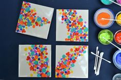 Tile coasters-- These are awesome gift ideas.  They're more for my use instead of the kids'  :)