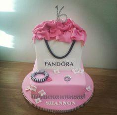 Pink pandora cake