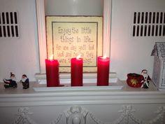 Riktig god jul! Merry christmas! #godjul #christmas #candle #lys #santa #nisse :)