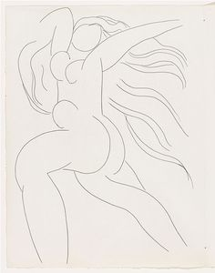 Henri Matisse - Jinx from Poésies. 1930-32 - etching, irreg. composition: 12 - The Museum of Modern Art, New York. The Louis E. Stern Collection, 1964