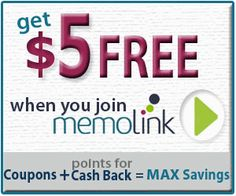 GET $5 INSTANTLY!!! I absolutely LOVE Memolink!    GO! GO! GO! These promotions don't stick around long
