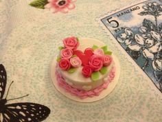 Miniature Happy Birthday Cake Dolls House MC014 by SweetieTiny, $5.99
