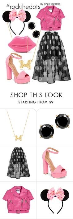 """#rockthedots"" by leslieakay ❤ liked on Polyvore featuring Chinese Laundry, Moschino, Disney, disney, disneybound and disneycharacter"