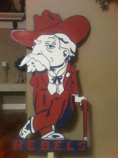 Ole Miss Mascot by CustomSignsForYou on Etsy, $30.00