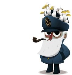 Viejo Lobo de Mar (Parte 2) by Jose Sabatini, via Behance