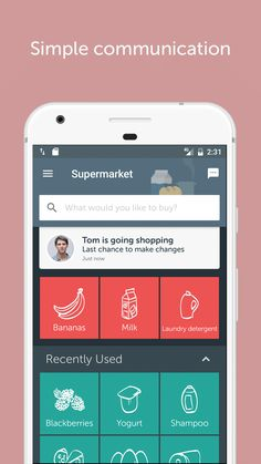 Communicate with your partner via Bring! App to get sure that they bring the Food :) Shopping List Grocery, Shopping Hacks, Blackberry Yogurt, Go Bananas, Android, Banana Milk, App, Laundry Detergent, Helpful Hints