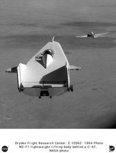 NASA M2 FI Lifting Body towed by C47