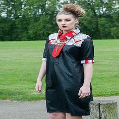 Tribal & Matt Faux Leather shirt dress
