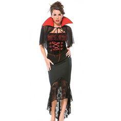 Coquette Womens Adult Voluptuous Vampire Halloween Costume Size M L | eBay