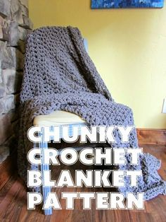 Chunky Crochet Blanket pattern - super simple...all double crochet, 4 skeins of chunky blanket yarn