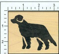 Retriever (bold) rubber stamp