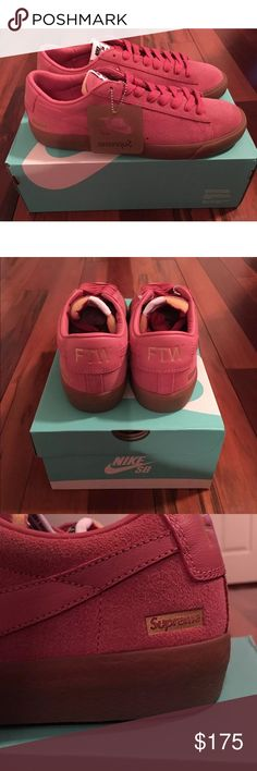 788167fba974 Nike Supreme Men s Blazer Low GT Pink SZ 10 New in Box Nike Shoes Athletic  Shoes