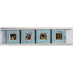Chaba Décor Light Blue Ladder Styke 4-Picture Frame 4X4