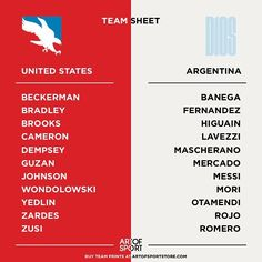 TEAM SHEETS  Thoughts?  #copaamerica #usavarg #usmnt #usa #argentina