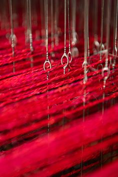 Red fique fiber in our looms Fiber, Rugs, Loom, Blue Prints, Farmhouse Rugs, Low Fiber Foods, Rug