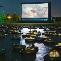 Watch jaws in a pond in an inner tube with your feet dangling below in dark water!