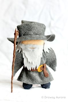 "Gandalf the Gray Felt Plush - Lord of the Rings, The Hobbit, ""Officially Unofficial"" - Plush Figurine, Miniature, Geekery"
