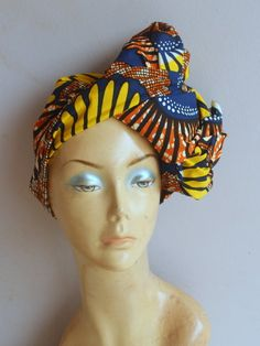 Ankara African Print headwrap/ Ankara Head wrap/ Wax print head wrap by AdinkraExpo on Etsy