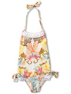 Roberto Cavalli Kids Y70029 Y3920 Swimsuit w/ Ruffles and Bows (Toddler/Little Kids)