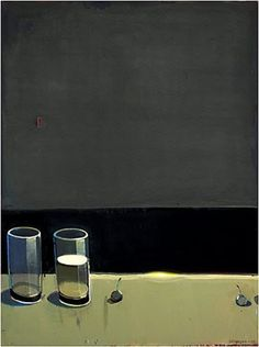 Raimonds Staprans (USA\Lithuanie, 1926-) – Dark Still Life with Two Glasses (2010)