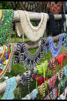Folkloric necklaces in Panama