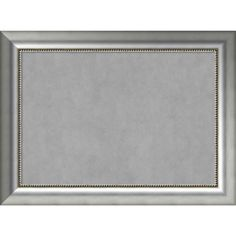 Framed Magnetic Board Choose Your Custom Size, Vegas Curved Silver Wood (29 x 17-inch), Grey